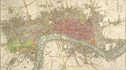 An improved plan of the cities of London and Westminster, and borough of Southwark including the new buildings, roads &c.